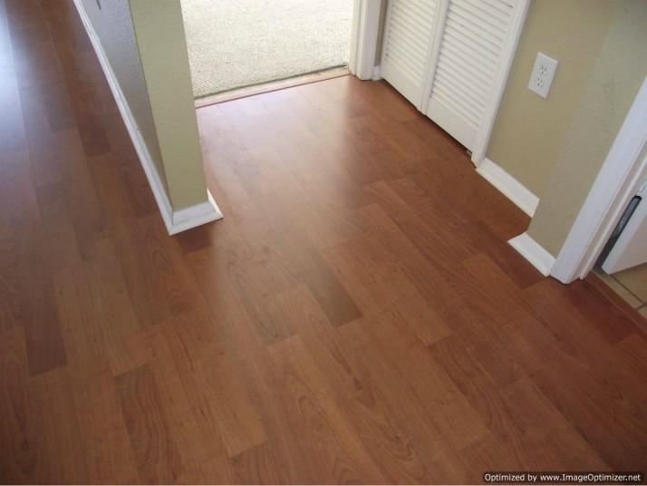 Water damaged laminate flooring,reinstalled looks like a new floor.