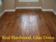 Hardwood glue down 5 inch wide flooring