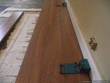 This is three rows installed of Lamton Santa Maria 12mm laminate flooring.