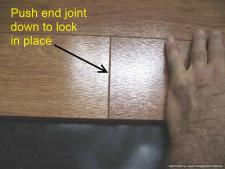 Lowes, Casual Living Berkshire Cherry, connecting the end joint when installing.