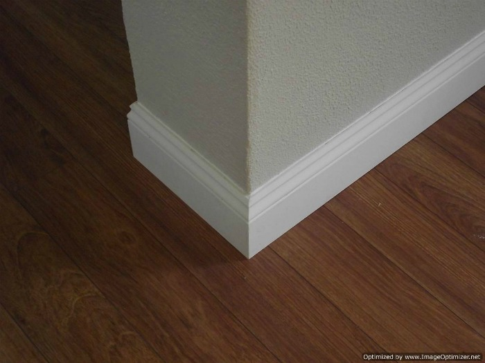 Installing 5 inch baseboard after chalking