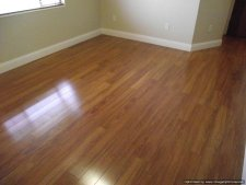Lowes, Casual Living Berkshire Cherry laminate installed in living room