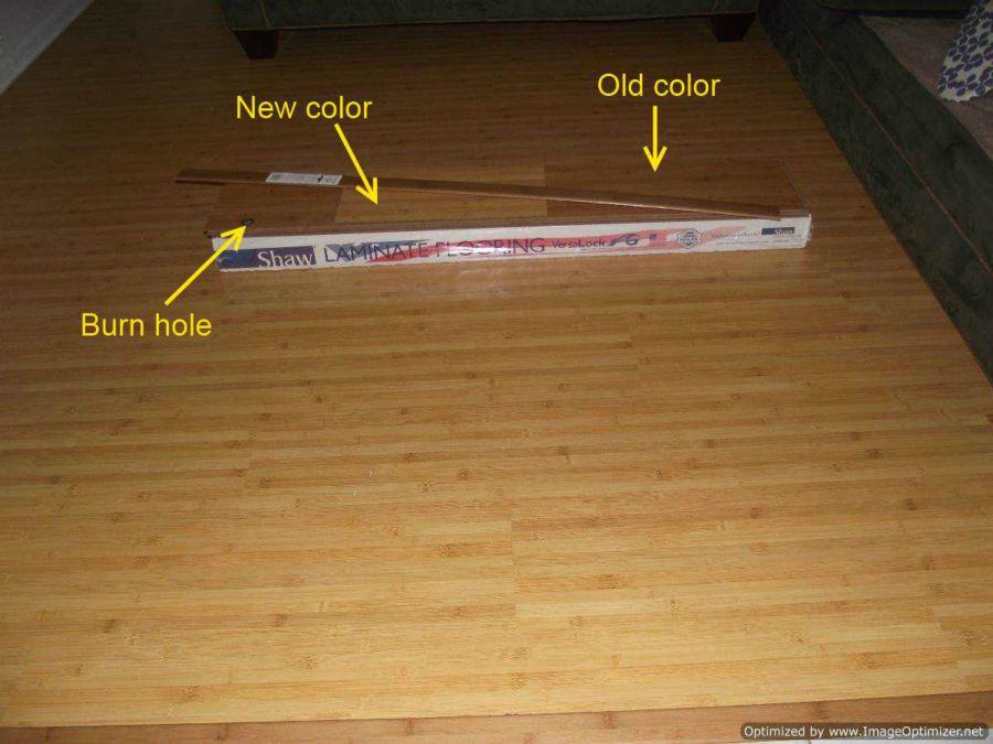 Installing Shaw Bamboo laminate flooring