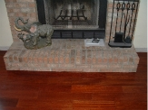 Laminate flooring under fire places