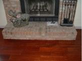 Laminate flooring under fire places