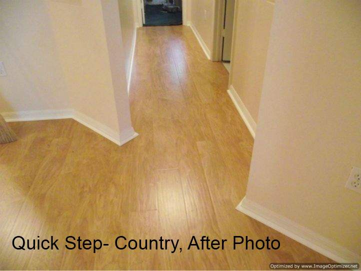 After photo, installed Quick Step Country in hallway