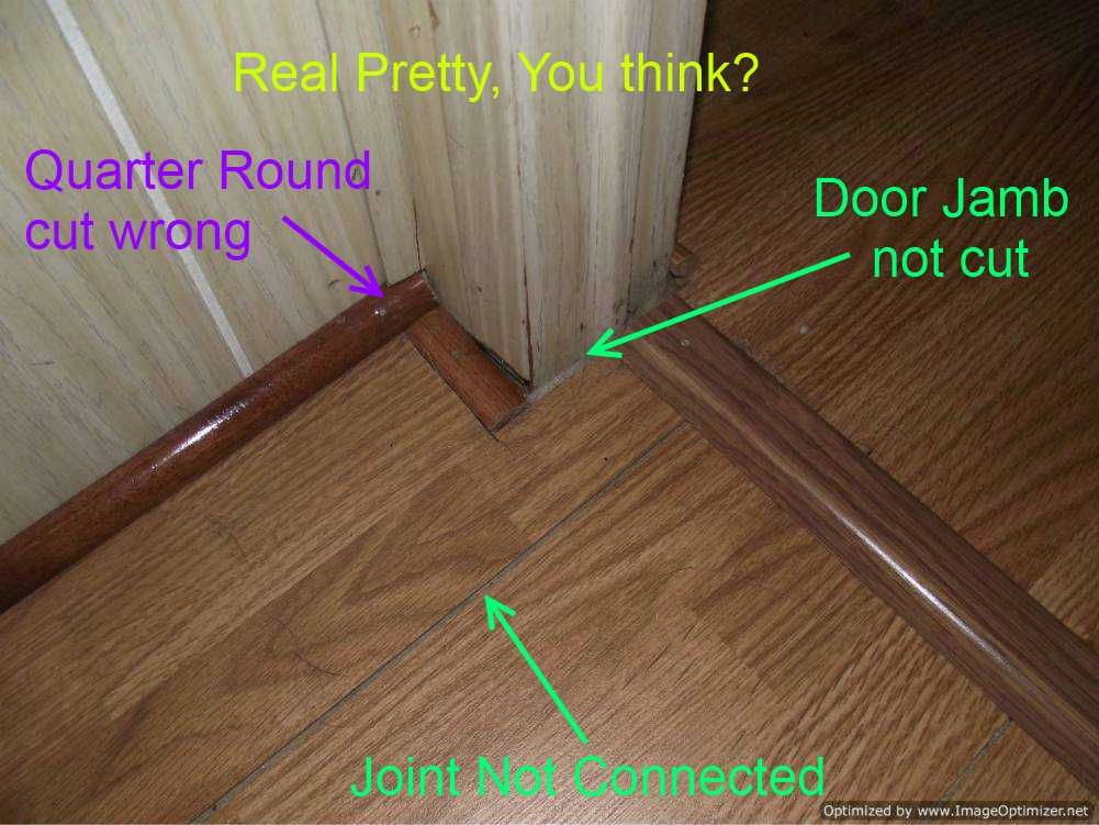 Bad laminate installation repair for How to lay laminate flooring through a doorway