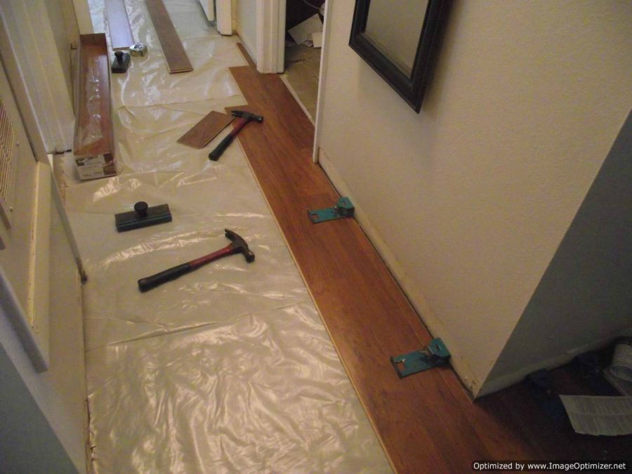 Harmonics laminate flooring installation, I installed a couple of rows