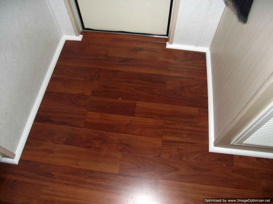 Allen Roth laminate installed in hallway