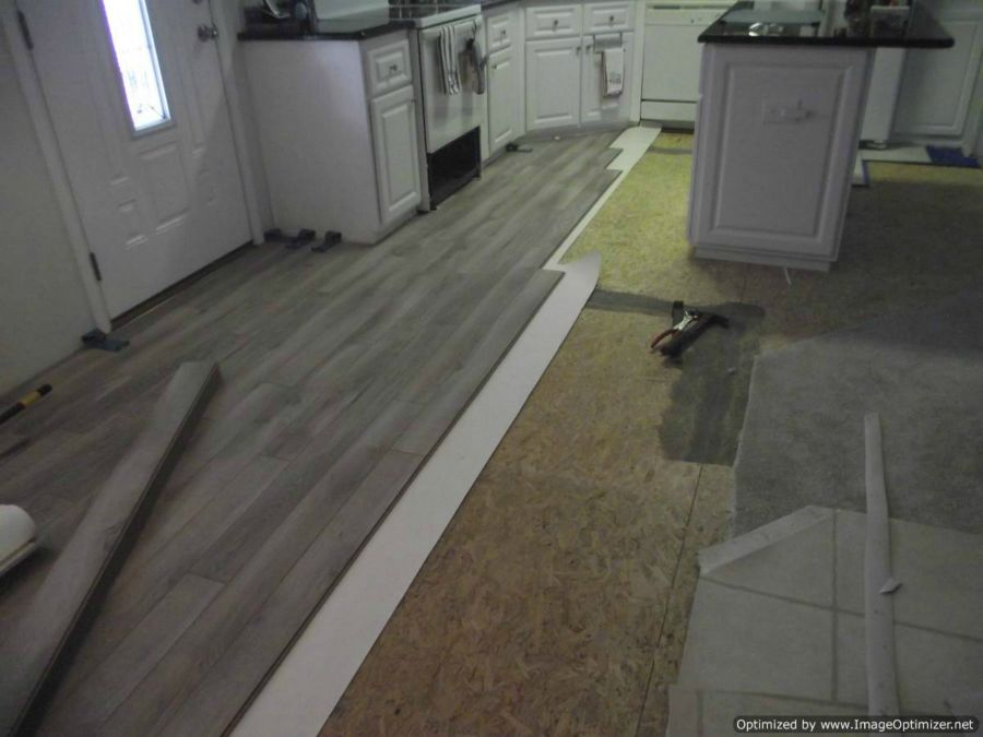 Nirvana V-groove laminate flooring installation, starting the installation