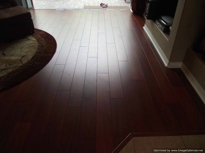 Quick Step Perspective laminate installed shows the deep v groove