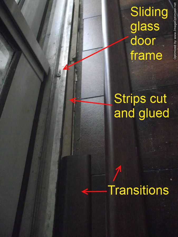 Installing Laminate Flooring Transition At Sliding Glass Door