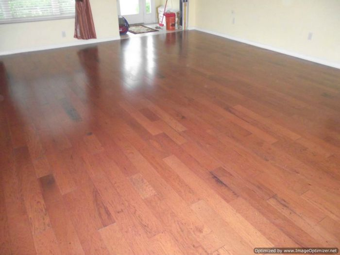 Bruce engineered hardwood flooring from Lowes, After installation