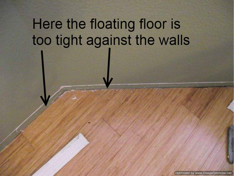 Laminate flooring too tight against walls - Bad Laminate Installation, Repair
