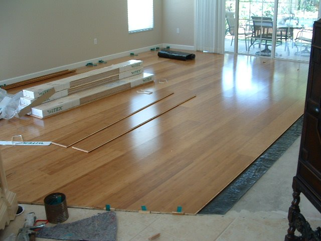 Floating wood flooring real wood easy to install for Floating hardwood floor