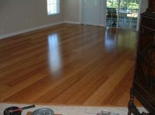 Here I have completed the floor. There is more effort involved compared to installing a laminate floating floor.