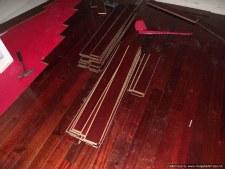 Home Depots, Home Legend engineered hardwood click and lock flooring.