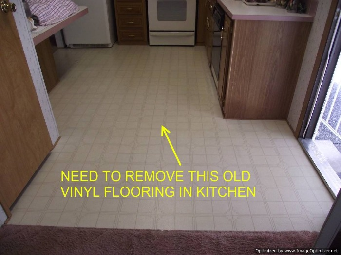 Mobile homes removing vinyl flooring floor prep for for Can you paint over vinyl flooring