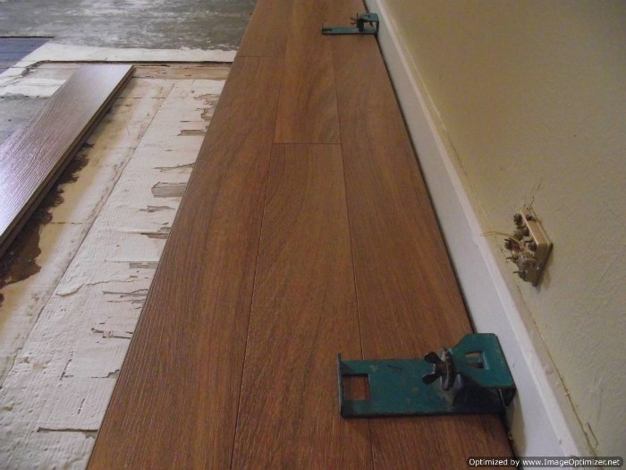 This is three rows installed of Lamton Santa Maria 12mm laminate flooring.