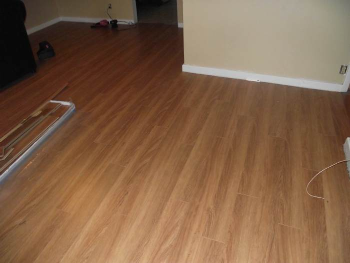 I installed Lamton Santa Maria laminate flooring in this room