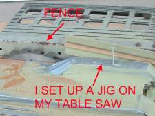 Temporary jigs I set up on my table saw