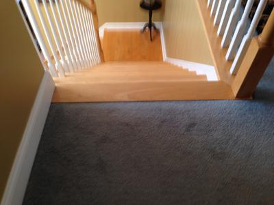 The landing/hallway at the top of my stairs is carpeted - there is ...