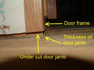 Should door jambs be cut in a mobile home when installing for Door undercut