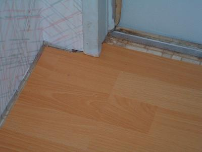 Laminate Under Door Jamb & Should door jambs be cut in a mobile home when installing a floating ...