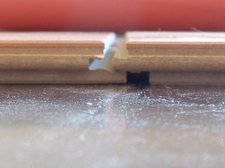 Lamton laminate flooring locking system close up photo