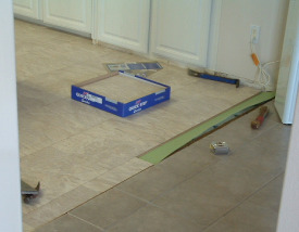 Slate look laminate tile Quick step, a great product.