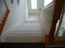 Lowes, Mohawk laminate will be installed on these stairs