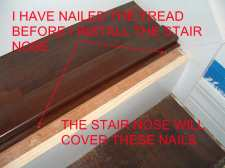 Here I am going to installing the stair nose on this stair with laminate flooring