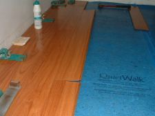 Vanier laminate flooring with the drop and lock Locking system