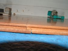 Vanier laminate flooring drop and lock end joint dropped down