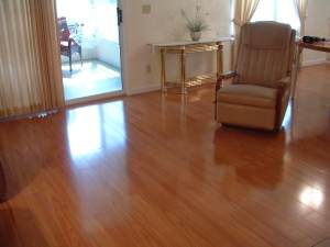 This is Vanier laminate flooring that looks just like real hardwood floors at substantially less.