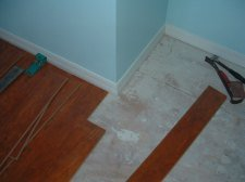 Here is how I cut a laminate flooring plank around a corner.