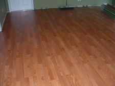 Sams Club Traditional Living laminate flooring Golden Amber oak after installation.