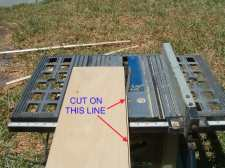 Cutting the line I drew on the riser