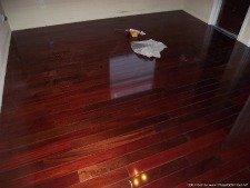 Home Depots, Home Legend engineered hardwood click and lock flooring box label.