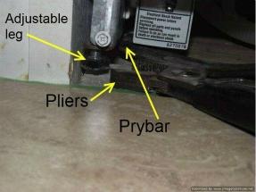 Installing laminate under dishwasher