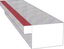 Photo of 3D stair to cut off stair overhang
